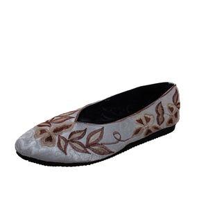 Shoes - women handmade satin flat shoes